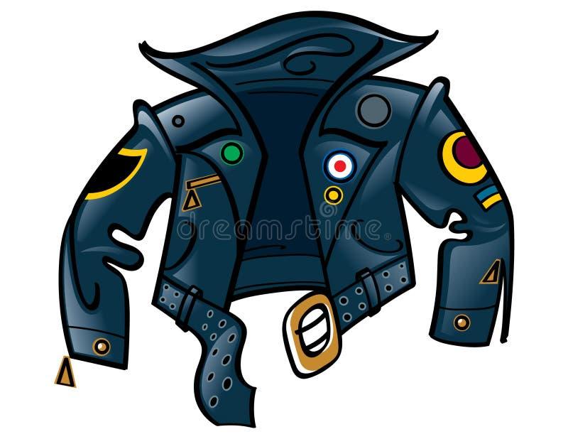 кожа куртки иллюстрация вектора
