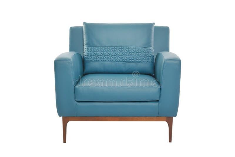 Кожа нерезкости и дизайнер кресла древесины современный стоковые фото