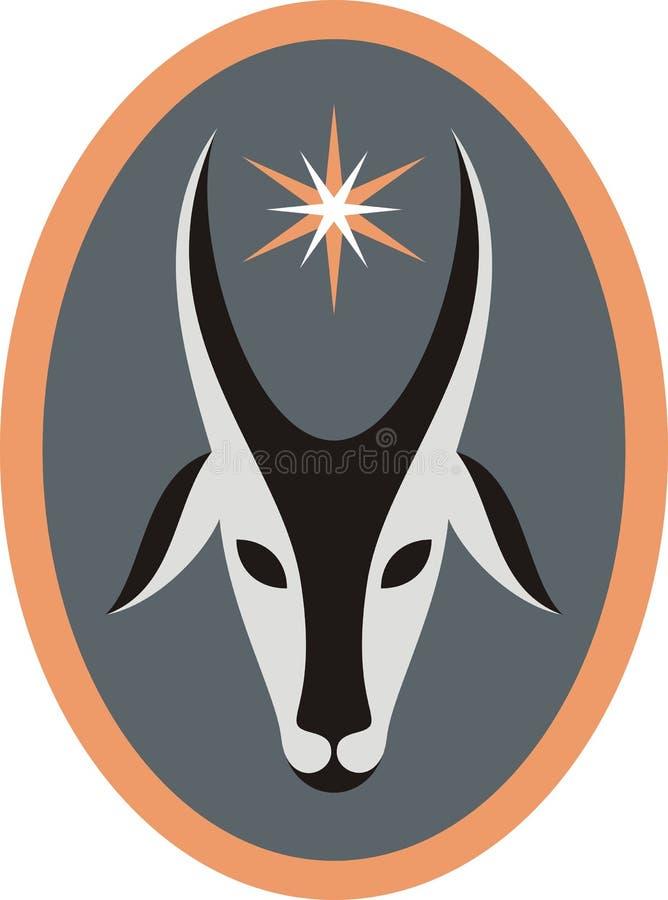 Коза и звезда иллюстрация штока