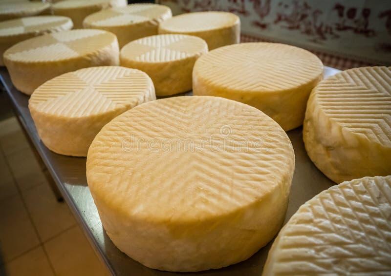 Козий сыр на продаже стоковое изображение