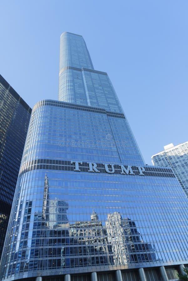 козырь башни chicago стоковые изображения