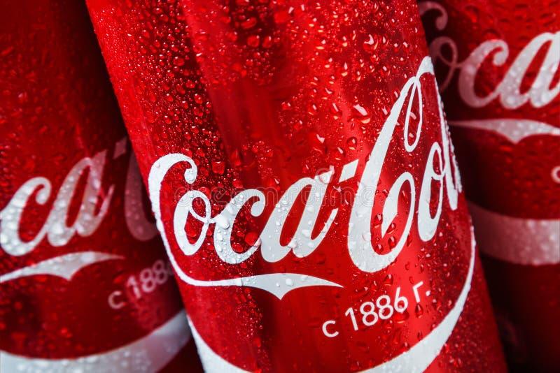 Кока-кола carbonated безалкогольный проданный напиток стоковое изображение