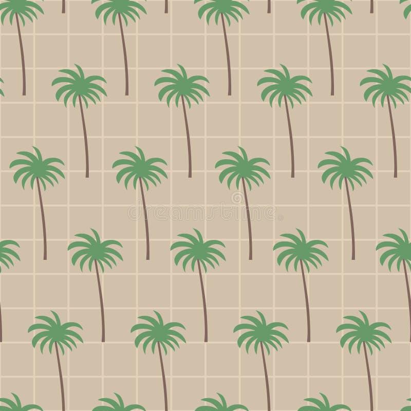 Кокосовая пальма в картине квадрата коричневого цвета песка иллюстрация штока
