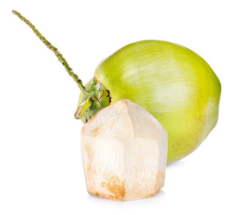 Кокос на белой предпосылке стоковые изображения