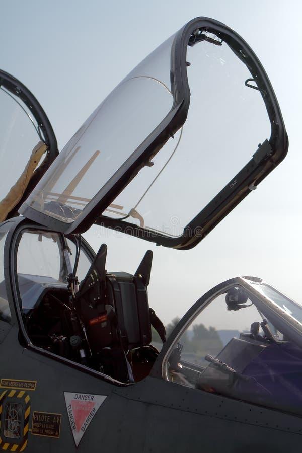 Кокпит реактивного истребителя стоковое изображение rf