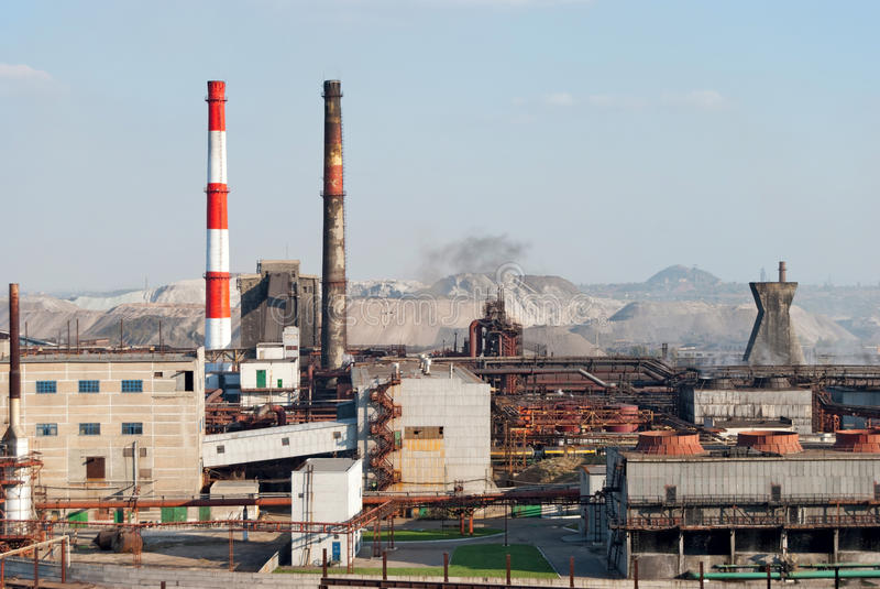 коксовый завод стоковое изображение rf