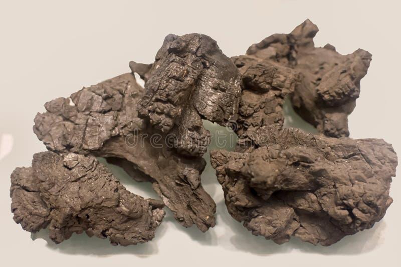 Кокс серое, трудное, и пористое топливо с высокуглеродистым содержанием и немногими примесями стоковые изображения rf