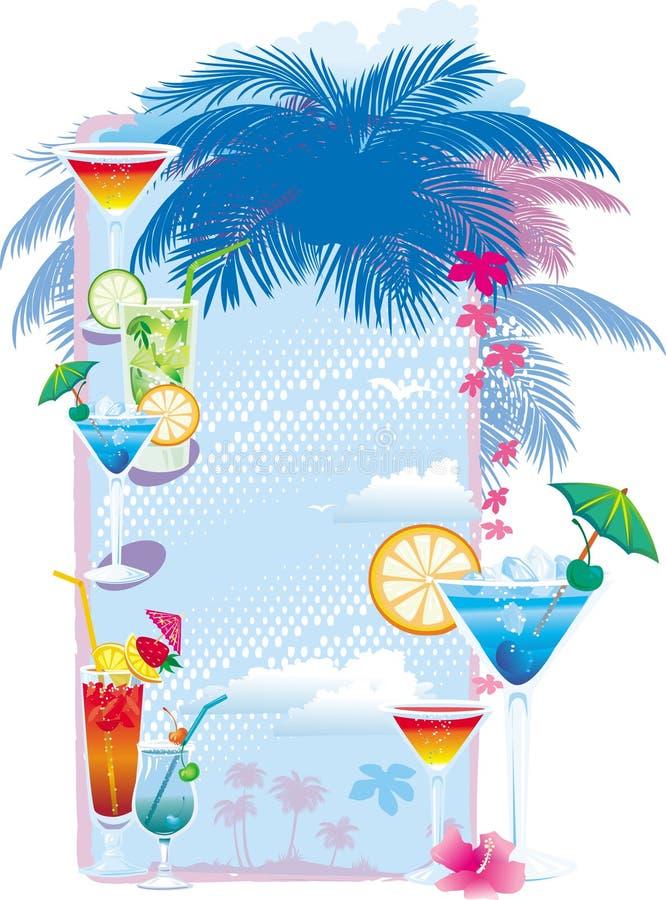 коктеил конструирует шаблон меню бесплатная иллюстрация