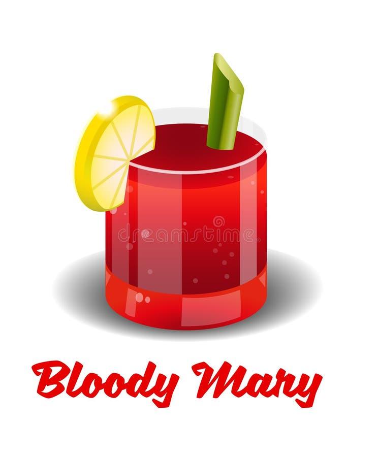 Коктеил кровопролитная Mary иллюстрация вектора