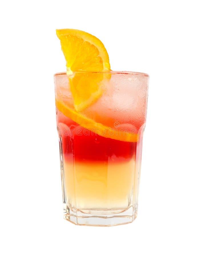 коктеил наслаивает померанцовый красный цвет 2 стоковая фотография
