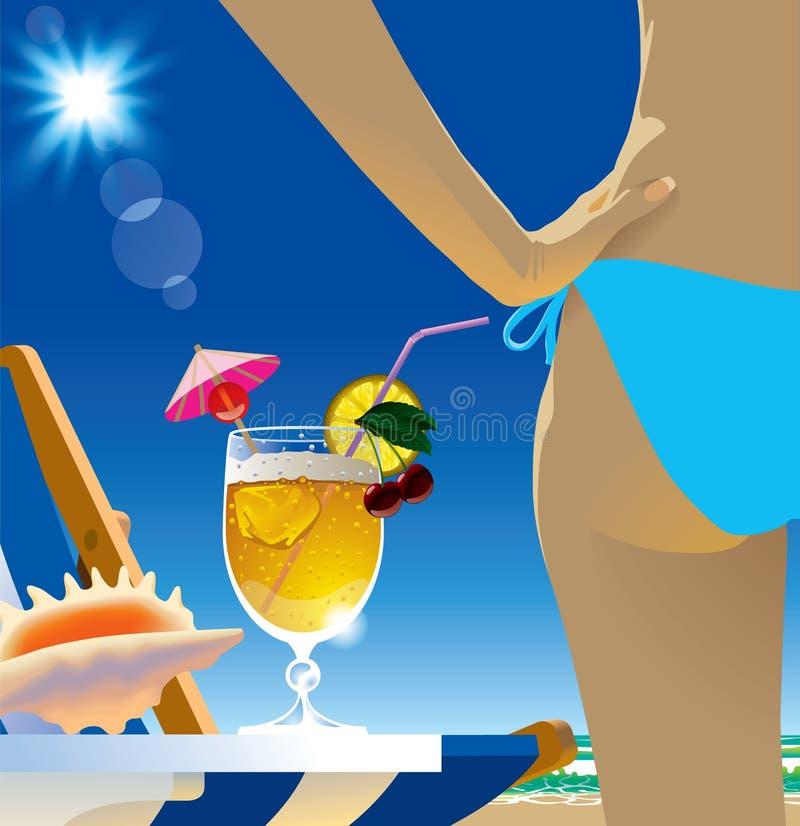 коктеил пляжа бесплатная иллюстрация