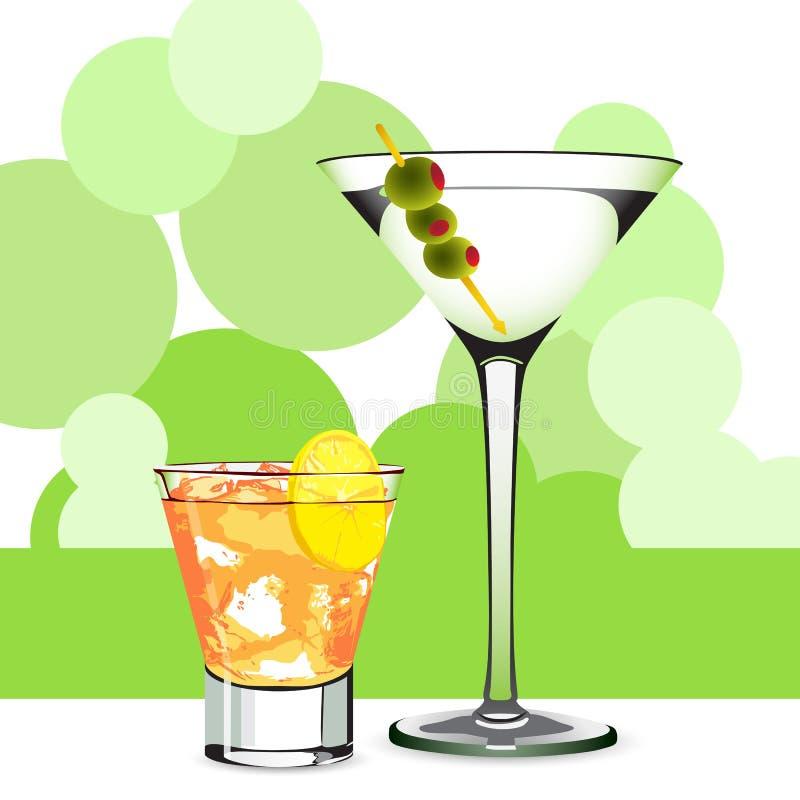 коктеил martini бесплатная иллюстрация