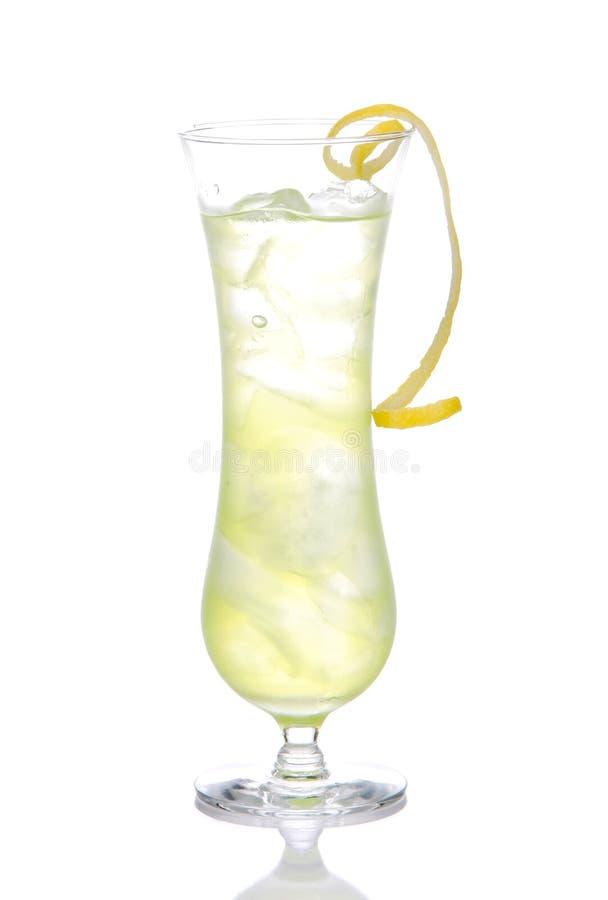 Коктеиль маргариты спирта желтый с задавленным льдом стоковые изображения rf