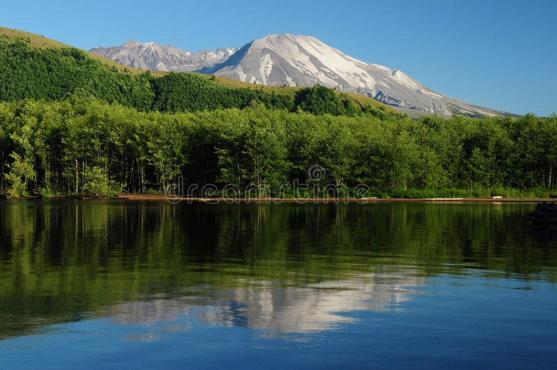 Колдуотер-Лейк, отражающий гору Сент-Хеленс Орегон США стоковое фото rf