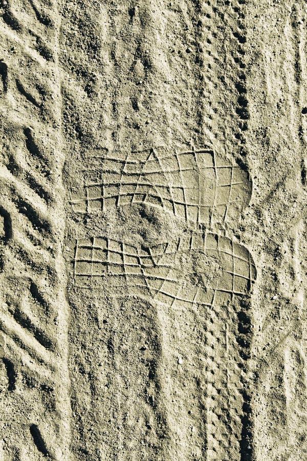 Колейности в песке в природе стоковая фотография