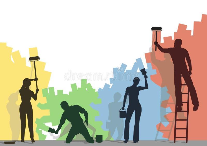 колеривщики цвета бесплатная иллюстрация
