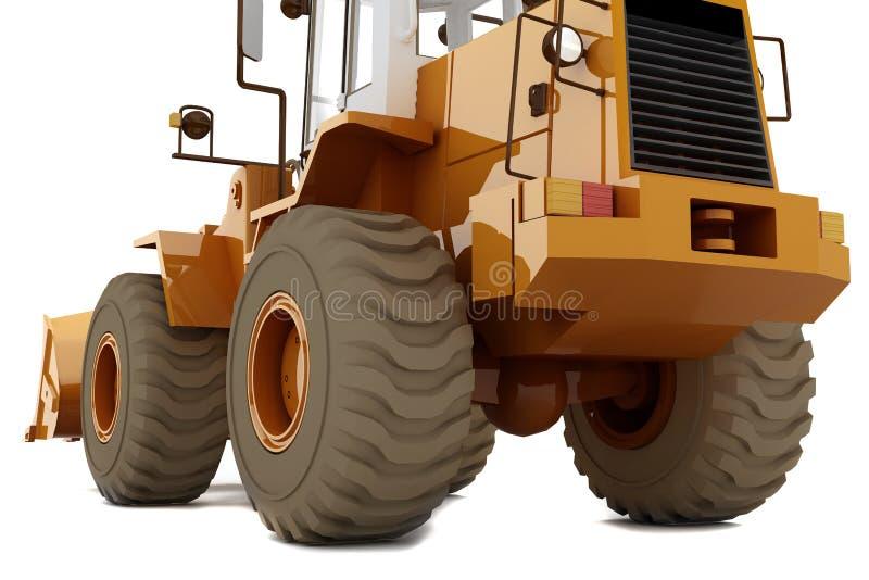 колеса бульдозера иллюстрация штока