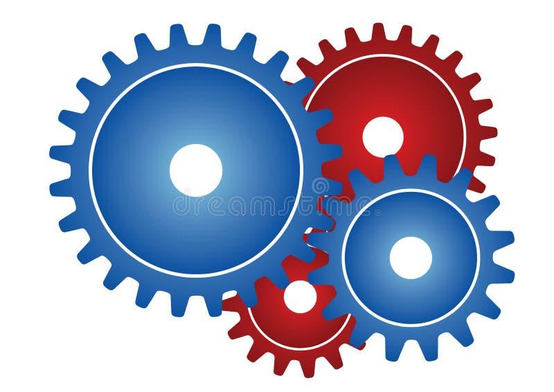 колеса вектора шестерни иллюстрация вектора