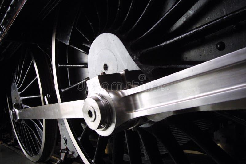 колеса поезда пара стоковое изображение