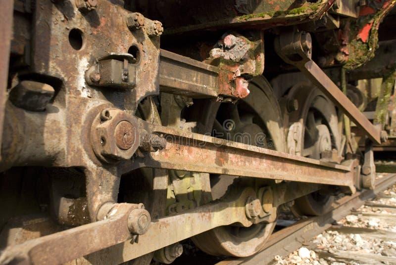 колеса поезда стоковое изображение