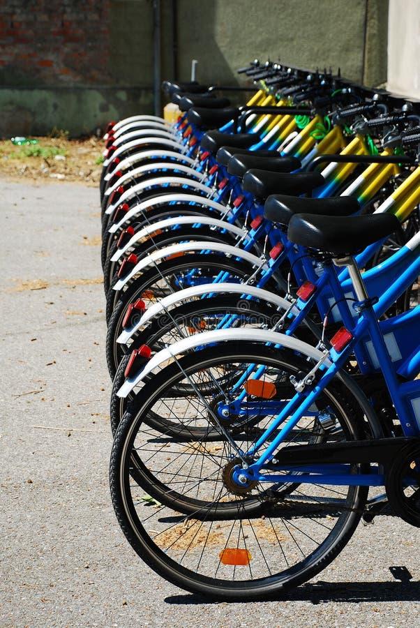 колеса рядка bikes стоковые фотографии rf