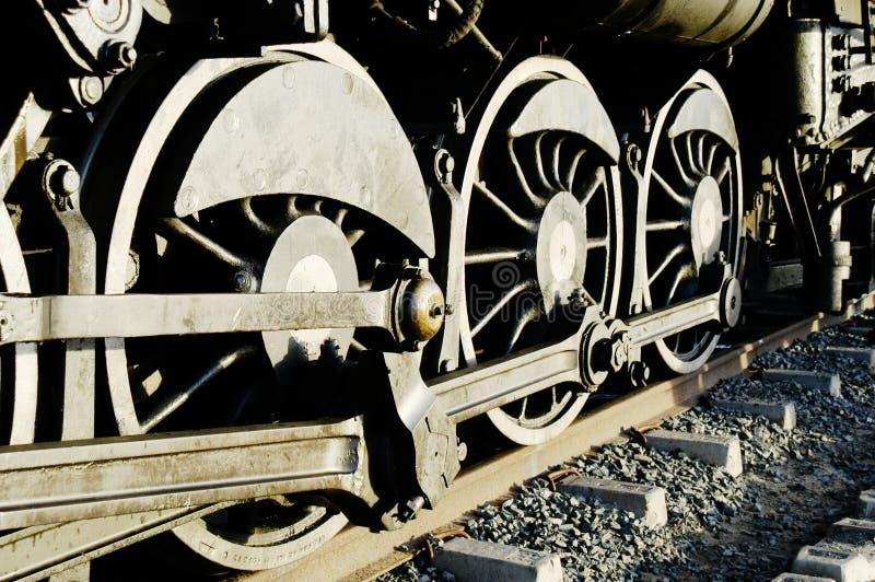 колеса сбора винограда поезда пара стоковая фотография