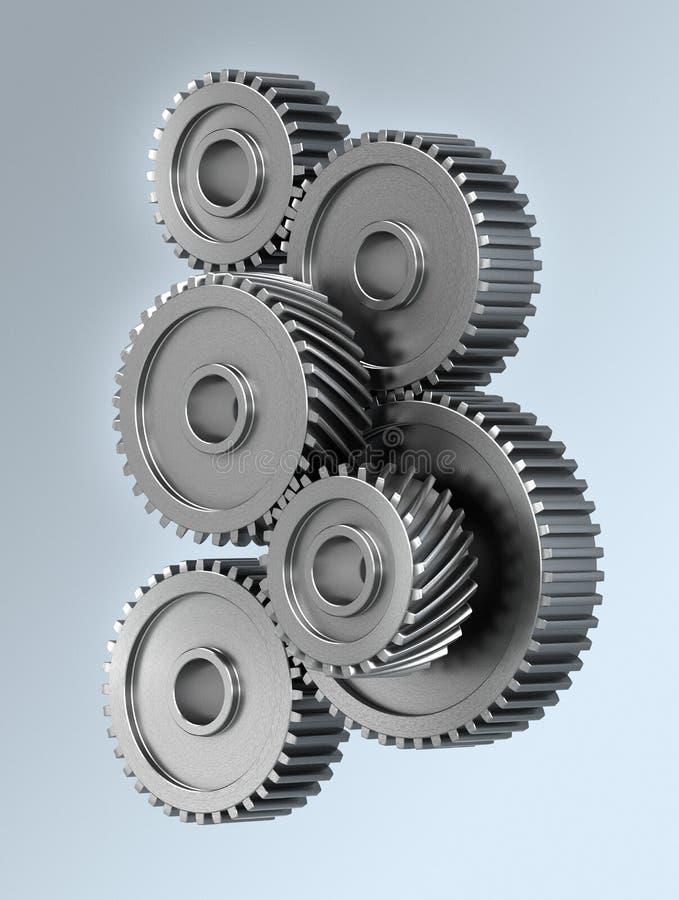колеса шестерни иллюстрация вектора