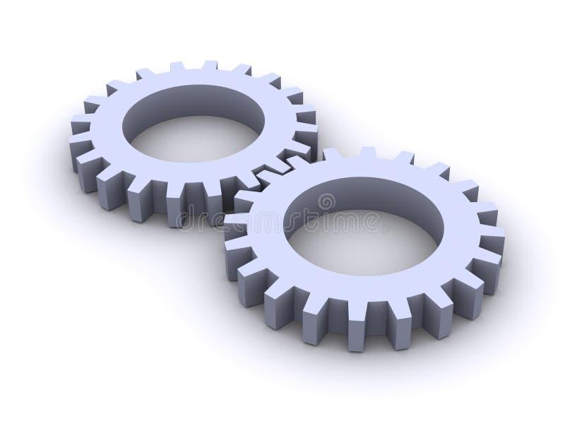 колеса шестерни иллюстрация штока
