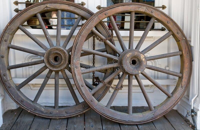 колеса этапа кареты западные стоковые фотографии rf