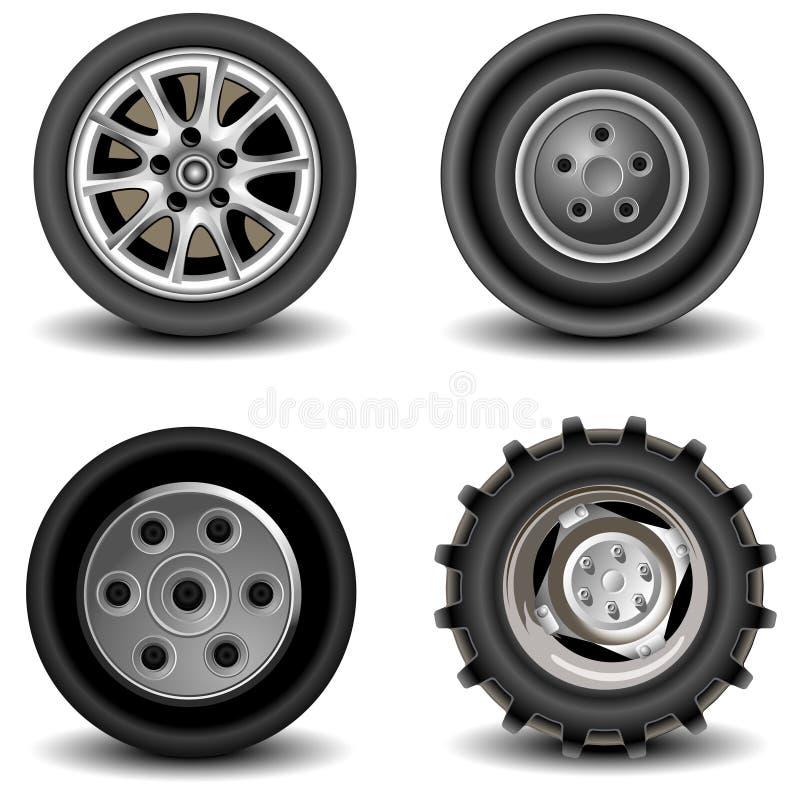колеса иллюстрация вектора
