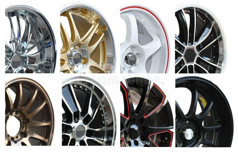 колесо автомобиля сплава установленное стоковые изображения