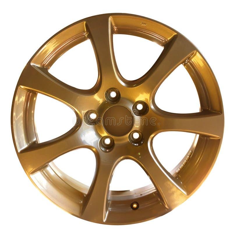 колесо автомобиля сплава стоковое изображение rf