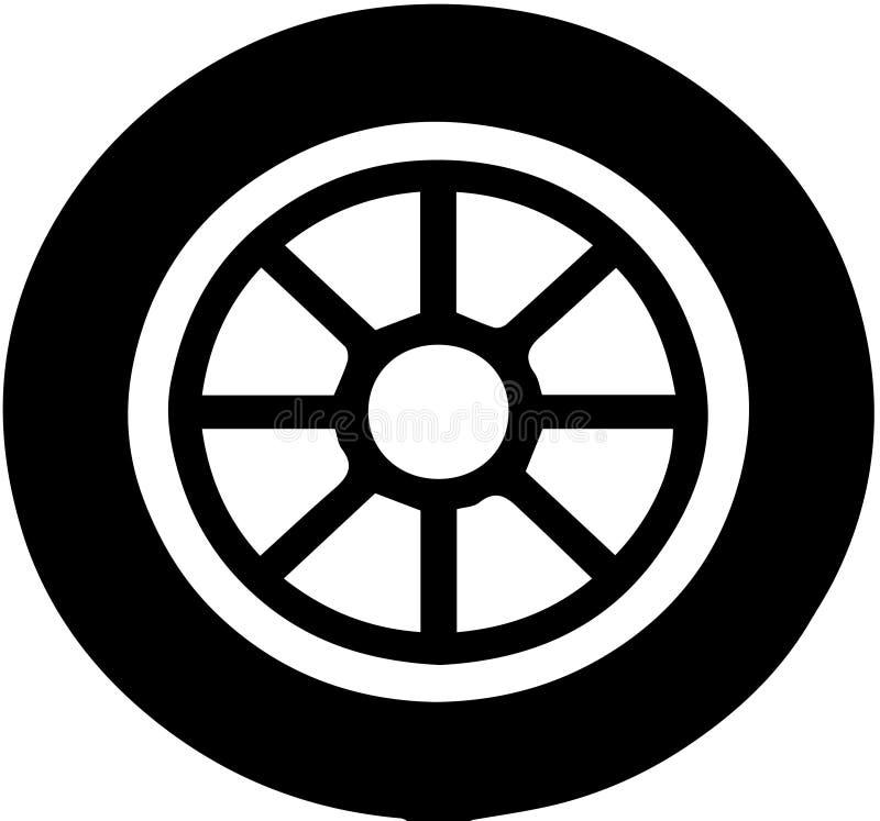 Колесо автомобиля иллюстрация вектора
