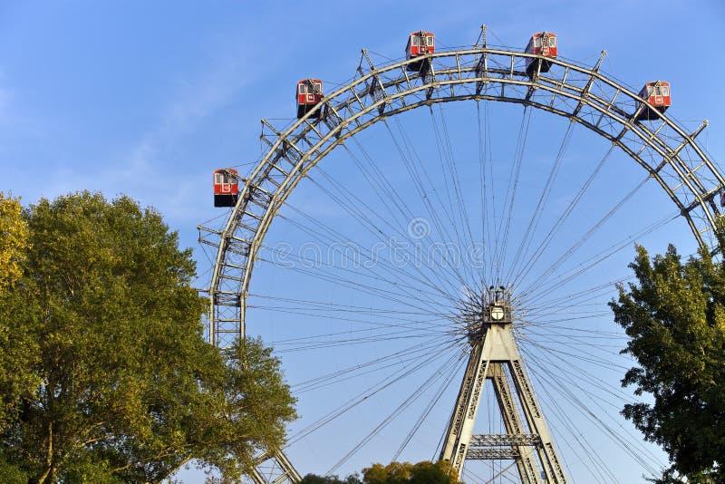 колесо вены prater исторического парка ferris стоковые фотографии rf