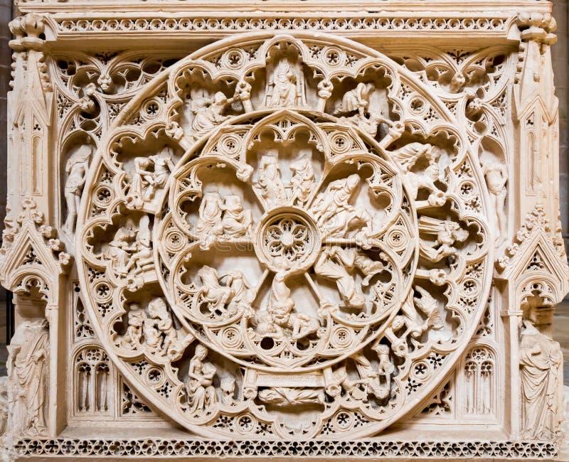 Колесо жизни Усыпальницы короля Педро стоковое изображение