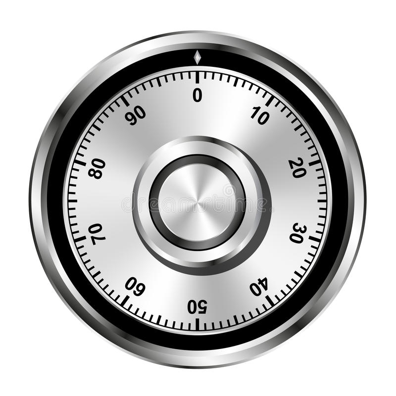 колесо замка комбинации реалистическое безопасное иллюстрация штока