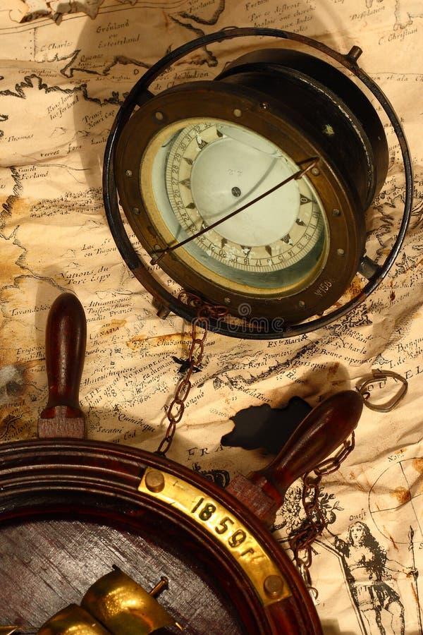 колесо компаса ретро стоковое изображение rf