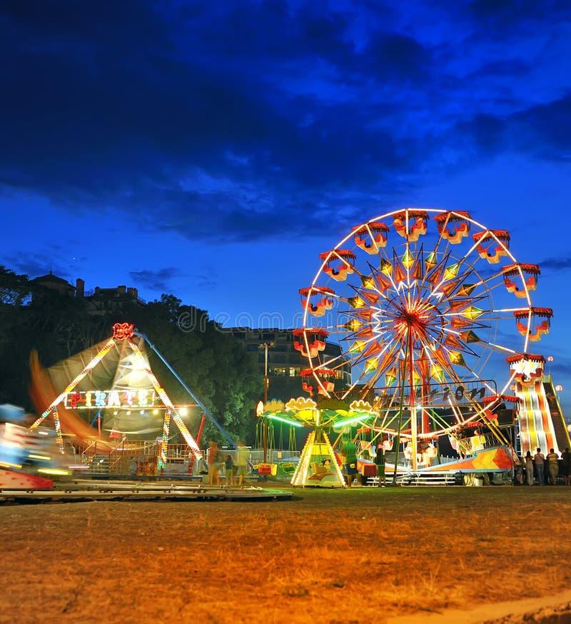 колесо лета ночи ferris стоковые изображения