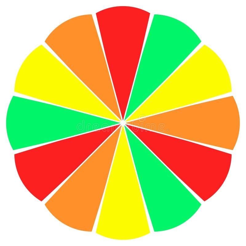 колесо ломтика плодоовощ цвета бесплатная иллюстрация
