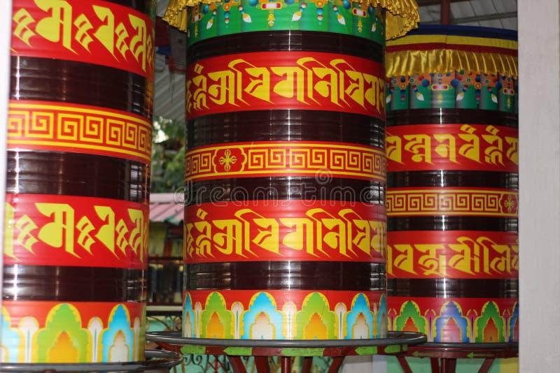 Колесо молитве буддизма стоковое фото