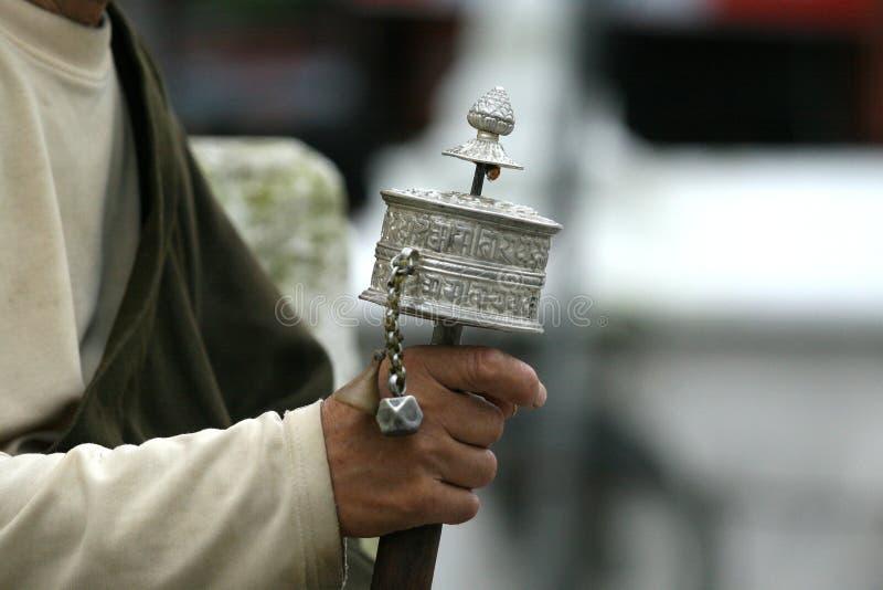 колесо молитве стоковое изображение rf