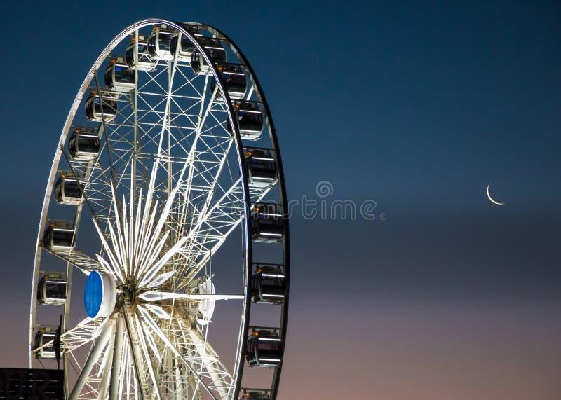 Колесо накидки на портовом районе Виктория и Альфреда в Кейптауне стоковое фото rf