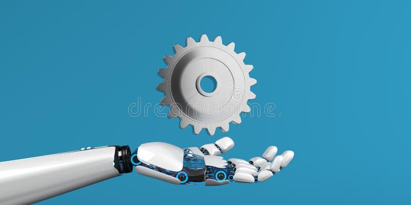 Колесо переводной ручной тяги робота иллюстрация вектора