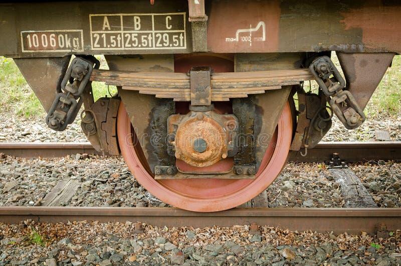 колесо поезда перевозки старое стоковые изображения