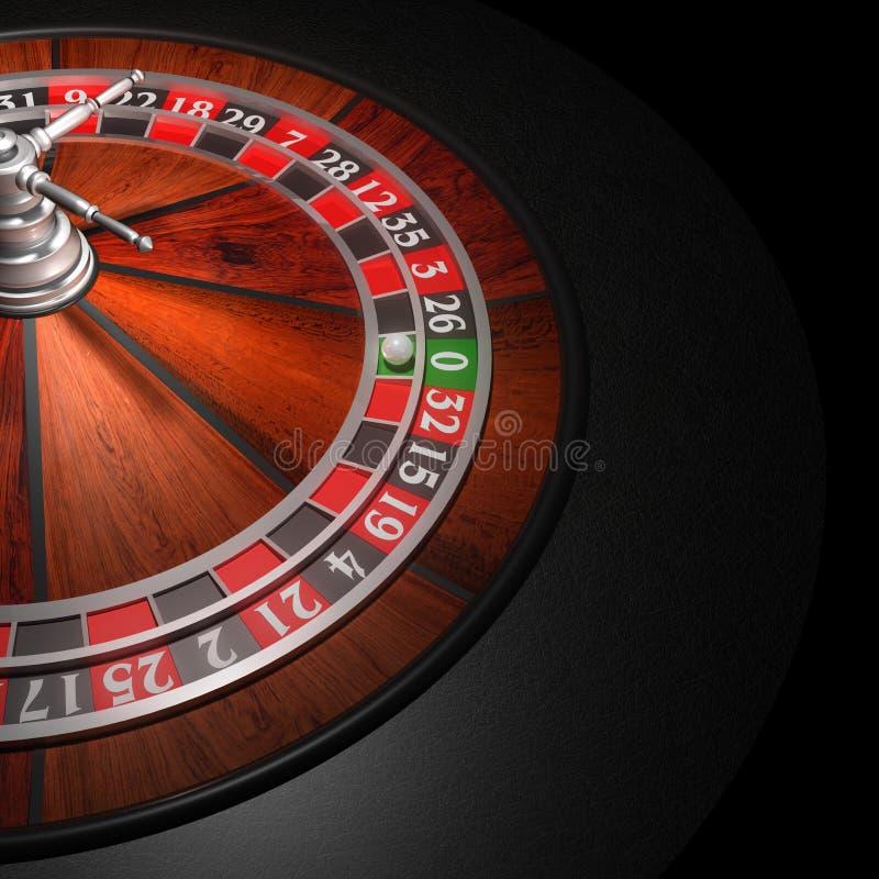 колесо рулетки казино иллюстрация вектора