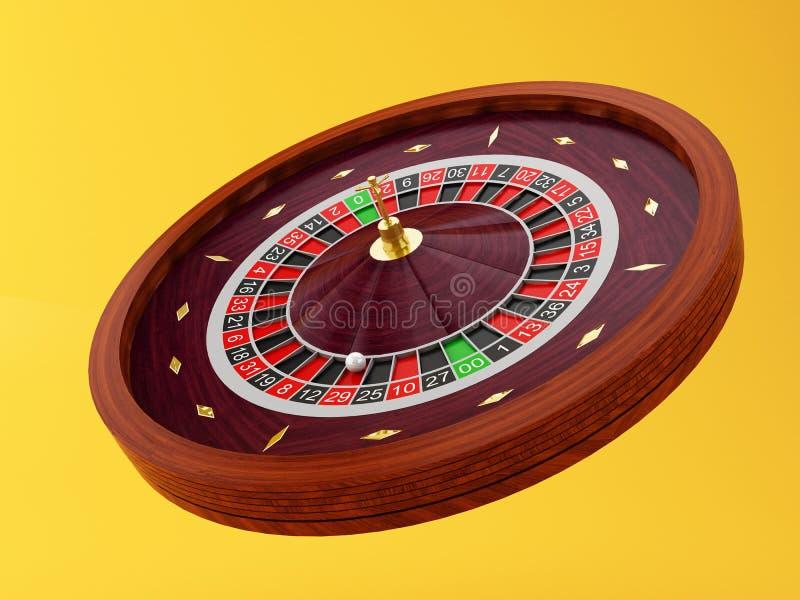 колесо рулетки казино 3d Игры азартных игр иллюстрация штока