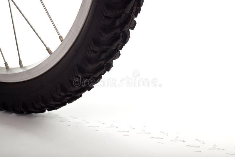 колесо следа велосипеда стоковая фотография rf