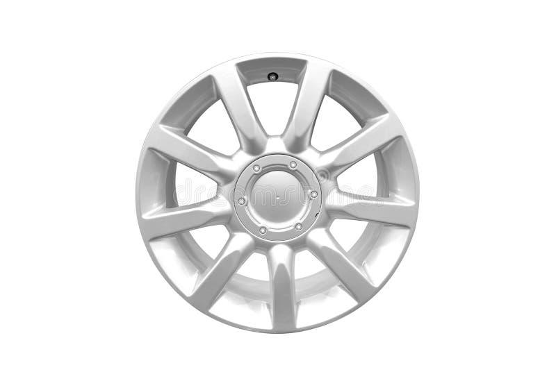 колесо сплава изолированное автомобилем стоковые фотографии rf