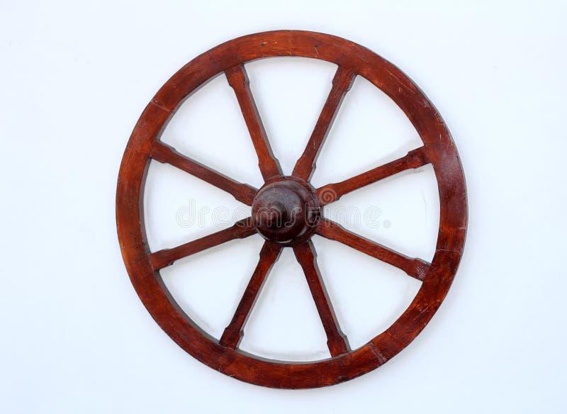 колесо стены деревянное стоковое изображение rf