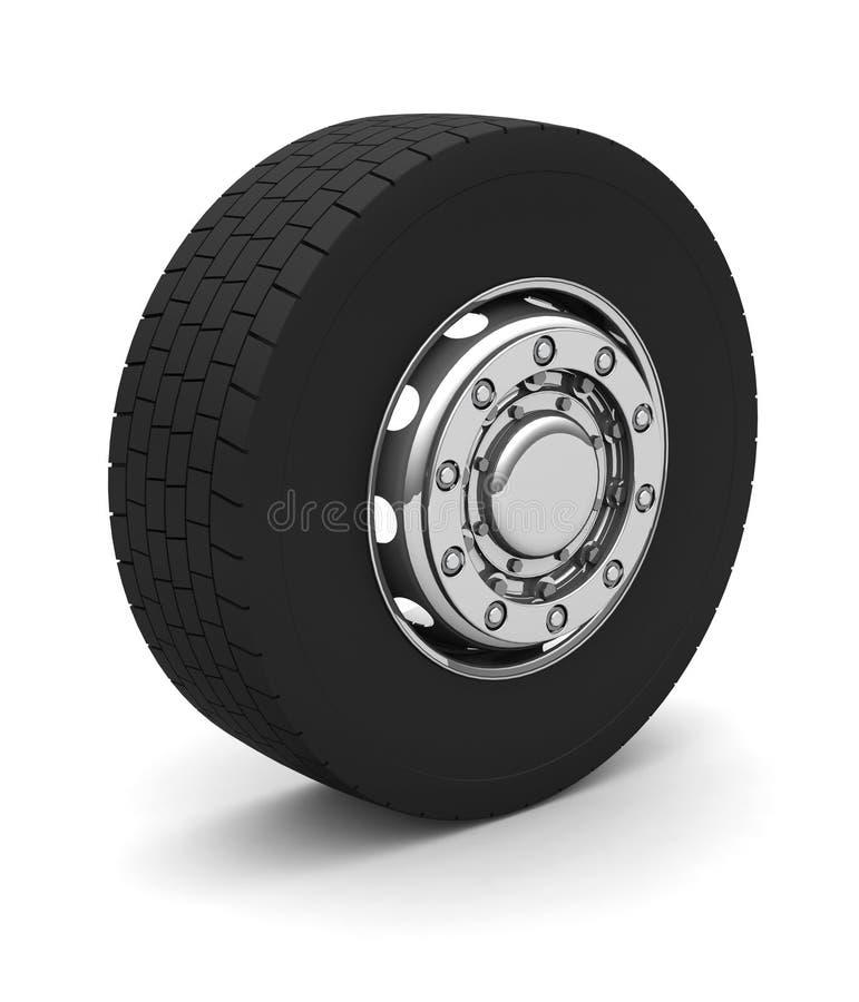 колесо тележки иллюстрация штока